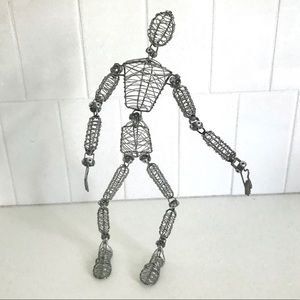 Metal poseable figure model articulated form decor